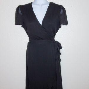 Wayf Chiffon Maxi Wrap Style Dress